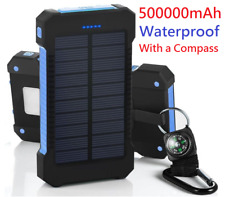 POWERNEWS 500000mAh 2 USB Portable Battery Charger Solar Power Bank Black + Blue