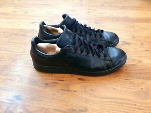 ADIDAS ORIGINALS ''STAN SMITH' Black Leather Men's Trainers UK10.5