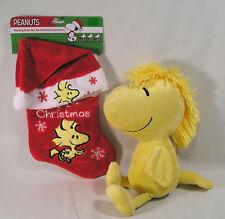 "Peanuts Woodstock ""My 1st Christmas"" Stocking & Santa Hat,Woodstock Plush Kohls"