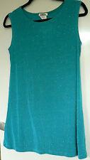 Kim & Co Glitter Jersey Sleeveless Tunic Oasis Size Small New & Tags