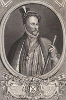 Portrait XVIIIe Albert de Gondi Alberto Gondi Duc De Retz Maréchal De Retz