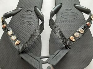Havaianas Top Black Gold Two Sizes