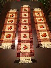 Polish Handmade Wool Kilim - Cepelia - set of 3 runners!