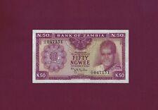 ZAMBIA 50 NGWEE 1969 P-9 XF+++