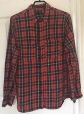 Red Black Check Shirt River Island Size 12 Grunge Punk Rock Flannel