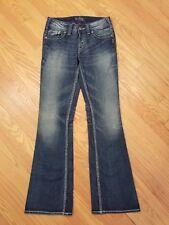 Womens Silver Brand Suki Surplus Bootcut Flare Stretch Denim Jeans Size 26 x 32