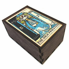 New The High Priestess Wooden Tarot Box with Slide Top - Made in the Us!