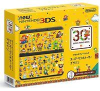 New Nintendo 3DS Console Kisekae Plates Pack Super Mario Maker Japan Import F/S