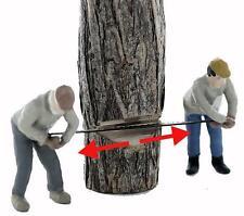 LUMBERJACK FELLER 2 Man CrossCut team....felling a tree, O comes Painted