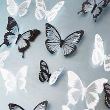 18pc BRICOLAJE 3D Mariposa Pegatinas Adhesivas Para Pared PVC Mariposas Hogar G1