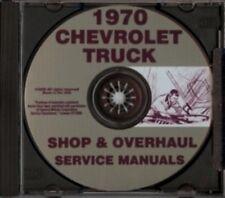 CHEVROLET 1970 Pickup, Van, Blazer, Suburban & Truck Shop Manual CD