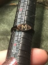 Gold Gilt Size P Antique Victorian Mourning Ring