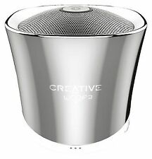 Creative Woof 3 Portable Bluetooth Mini Speaker With Built-in Microphone - Chrom