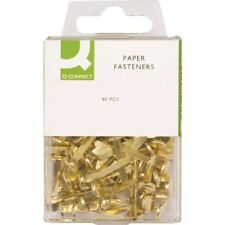 1 BRAND NEW BOX OF 80 BRASS PAPER FASTENERS SPLIT PINS SIZE 17mm. UK SELLER