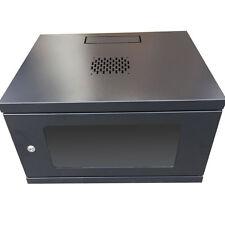 6U Wall Mount Network Server Data Case Cabinet Rack Door Lock 6 Unit Housing
