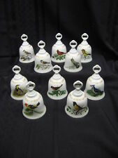 Set of 10 Danbury Mint Songbirds Of America Collectable Porcelain Bells Mint