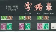 GB - PRESENTATION PACK - PACK NO 36 - MACHIN DEFINITIVES - REGIONALS -  to 63p