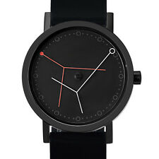 "Projects Watches ""Ora Major"" Acier IP Noir Silicon Montre Unisex"