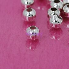 Wholesale 100 Silver Plated Round Spacer Beads 4mm Jewelry Making Findings