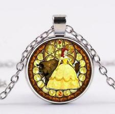 Beauty and the Beast Cabochon Fashion Necklace - US SELLER