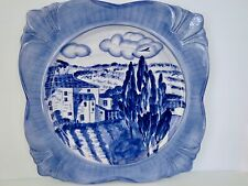 "New! ARTIMINO Blue & White HANDPAINTED EARTHENWARE PLATTER ""Tuscany Dawn"" 13inch"