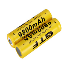 2PCS Rechargeable 18650 3.7V  Li-ion Battery for Led Flashlight GTF