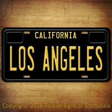 Los Angeles City/College California Vanity License Plate Black