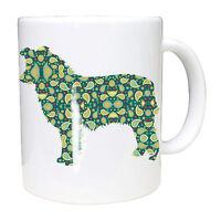 Dog Mug Border Collie Mugs Paisley Design Ceramic Border Collie Birthday Gift