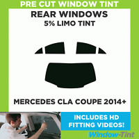 Pre Cut Window Tint - Mercedes CLA Coupe 2014+ - 5% Limo Rear