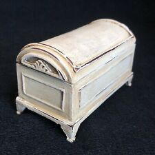 Dolls House Furniture Miniature 1/12 Trunk Ottoman Chest Distressed Shabby 331