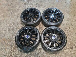 "02-08 Ford Fiesta MK6 ST150 17"" Alloy Wheels & 205/40ZR17 Tyres Black GENUINE"