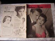 February 1951, PICTURE SHOW, Kirk Douglas & Jane Wyman, Macdonald Carey.