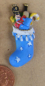 Sons Filled Christmas Stocking Tumdee 1:12 Scale Dolls House Resin Accessory