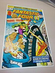 The Fantastic Four #167 Marvel Comics 1976 Perez art / Hulk and Thing Team-Up!