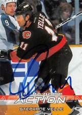 STEPHANE YELLE FLAMES AUTOGRAPH AUTO 03-04 IN THE GAME ACTION #90 *51883