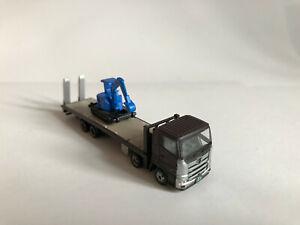 Tomytec Truck-Collection, Plattform-Truck Excavatrice, Braun, Voie N Modèle 1 :