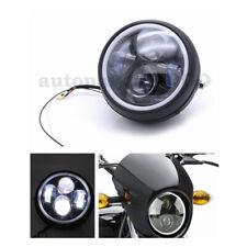 Waterproof 5.75'' Motorcycle LED Headlight Super Bright Hi-Lo Beam 35W