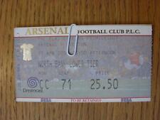 21/04/2001 Ticket: Arsenal v Everton