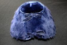 VINTAGE 1960'S GERTRUDE MENCZER ST. LOUIS  BLUE VELVET BLUE FEATHERED HAT SZ  7