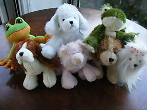 Lot of 7 Ganz Lil' Kinz Stuffed Animals with Used Codes