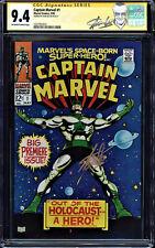 Captain Marvel #1 Cgc 9.4 Oww Ss Stan Lee, 2Nd App Carol Danvers Cgc #1227701013