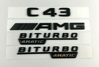 C43 AMG BITURBO 4MATIC Matt Schwarz Nummer Briefe Emblem Aufkleber Emblem Logo
