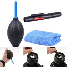 3 in 1 Lens Cleaning Cleaner Dust Pen Blower Cloth Kit for DSLR VCR Camera SG
