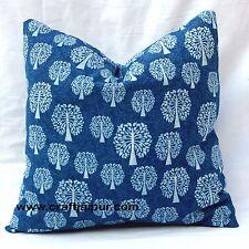 Indigo Blue Cushion Cover Handmade Decorative Indian Printed Cotton Pillow Cases