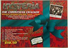 Hysteria ~ The Christmas Cracker @ The Sanctuary, 14/12/96 Rave Flyer