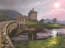 Pete Rumney Fine Art achat Original Toile Peinture écossaise Château Eilean Donan
