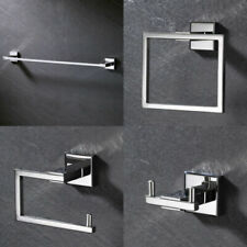 Chrome Stainless Steel 4PCS Bathroom Accessory Set Towel Bar Towel Ring Holder