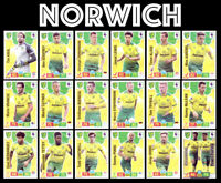 NORWICH CITY PREMIER LEAGUE 2019/20 19/20 TEAM SET 18 CARDS PANINI ADRENALYN