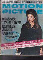 Motion Picture Magazine May 1970 Jackie Kennedy Johnny Cash Mia Farrow