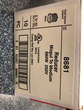 Lot of 10 Pass & Seymour #8681 660W Porcelain Reducer Mogul to Medium Extender